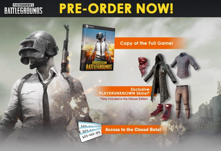 PlayerUnknown's Battlegrounds pre-order cover