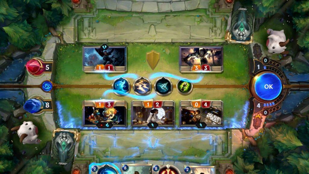 LoR gameplay screen