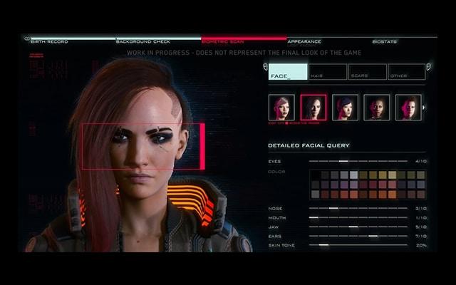 Cyberpunk 2077 caractere
