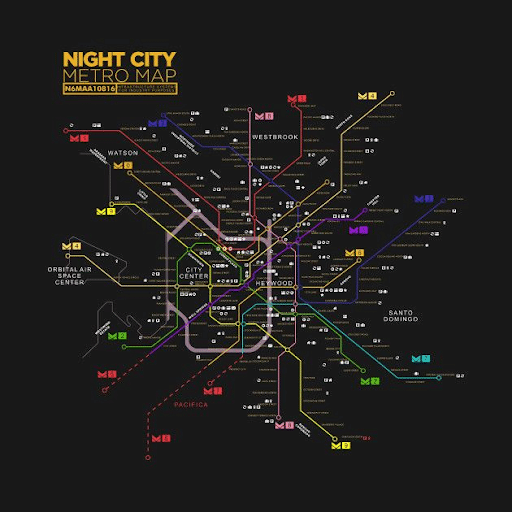 Sistemul metroului Night City